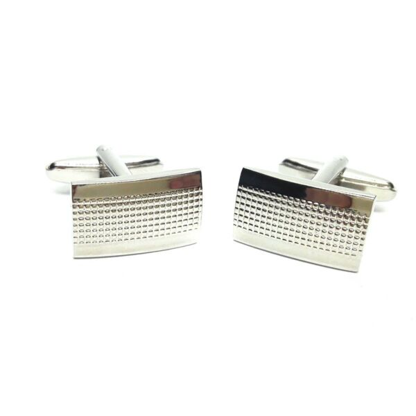 Rectangle Hammered Classic Cufflinks X2PSF227