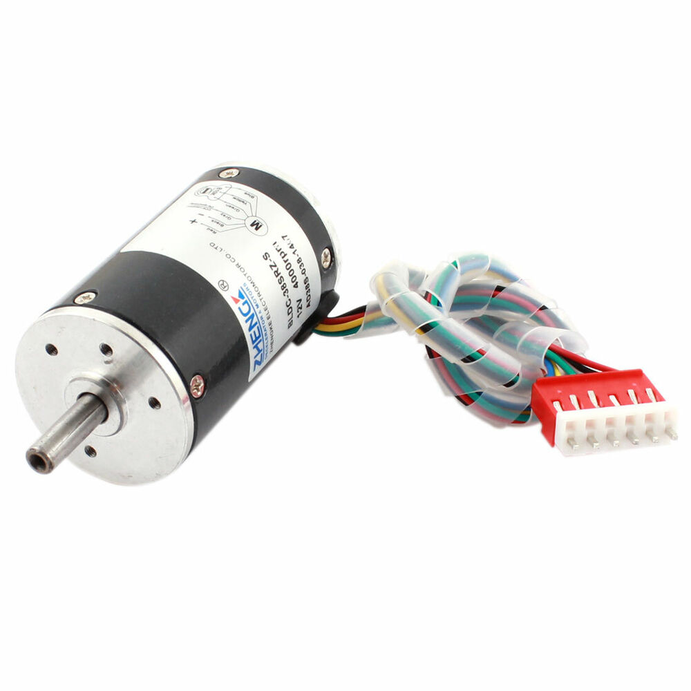 Dc 12v 4000rpm speed 38mm diameter low noise brushless for Low noise dc motor