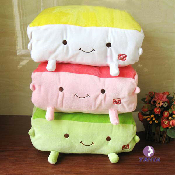 Cute Pillow Warmer : Plush Tofu Pillows Cute Throw Pillows Food Cushions Hand Warmer Plush Toys eBay