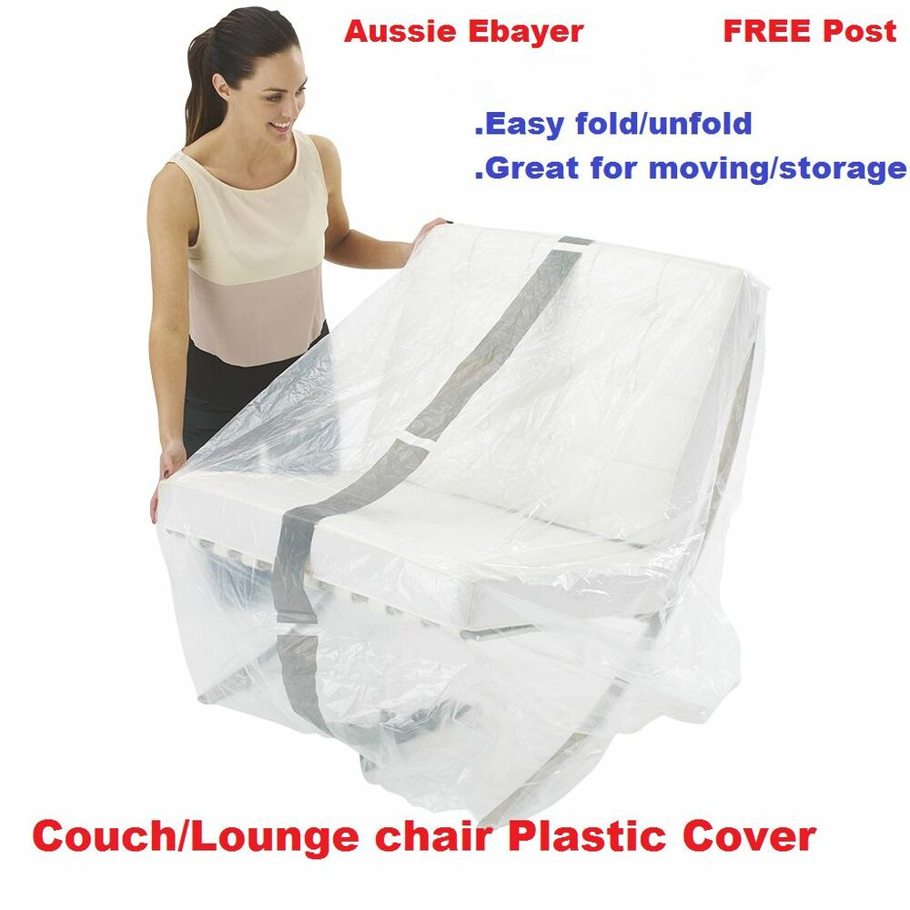 3x Furniture Protector Plastic Protection Cover Moving