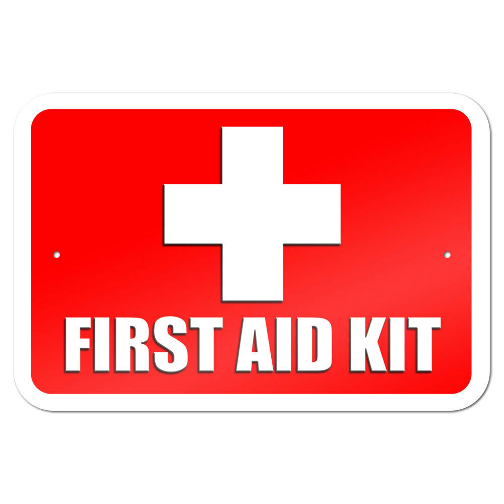 First Aid Sign : First aid kit quot metal sign ebay