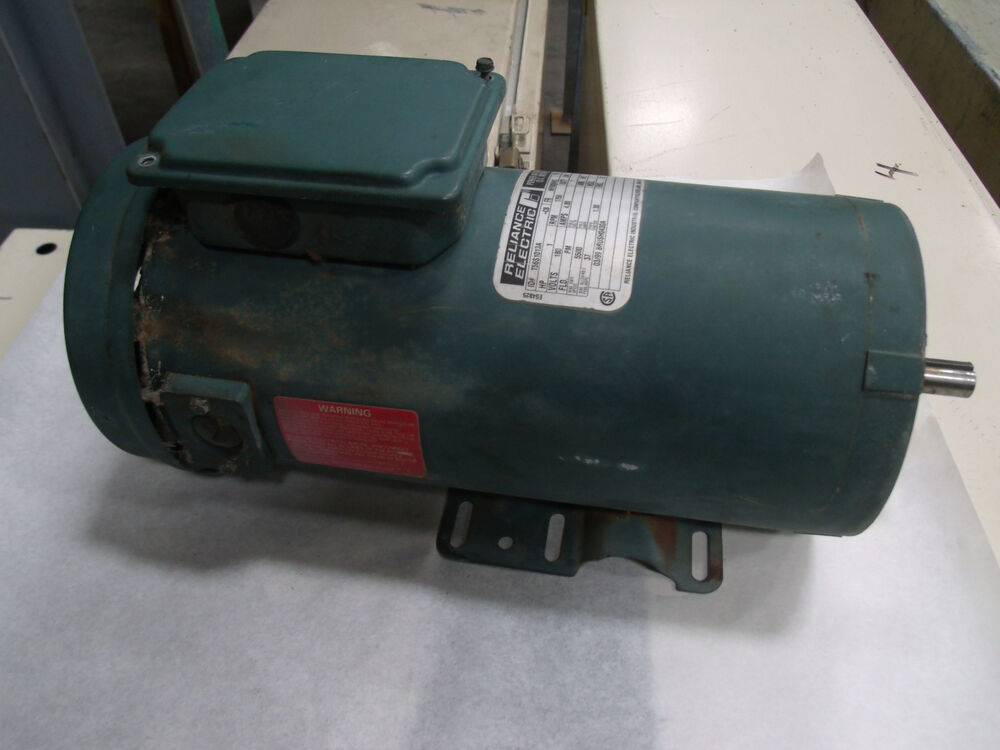 Reliance Electric 1hp Dc Motor Model T56s1013a Lot 1 Ebay
