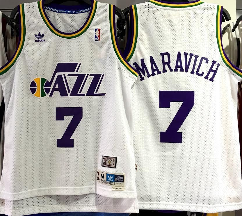 Pistol Pete Maravich Utah Jazz Hardwood Classics Throwback