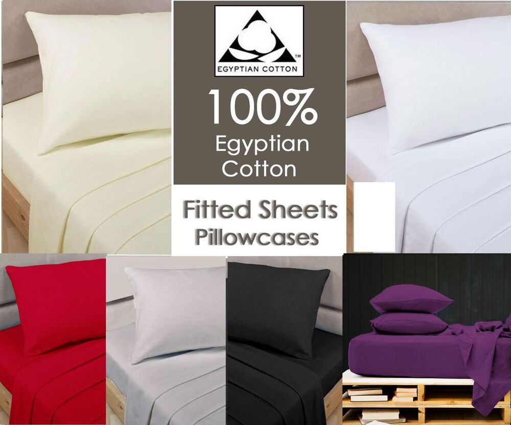 100 egyptian cotton fitted sheets single 4ft small double. Black Bedroom Furniture Sets. Home Design Ideas