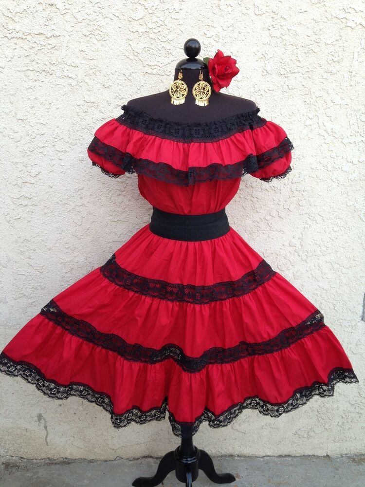 Elegant Mexican Fiesta Dress 9 10