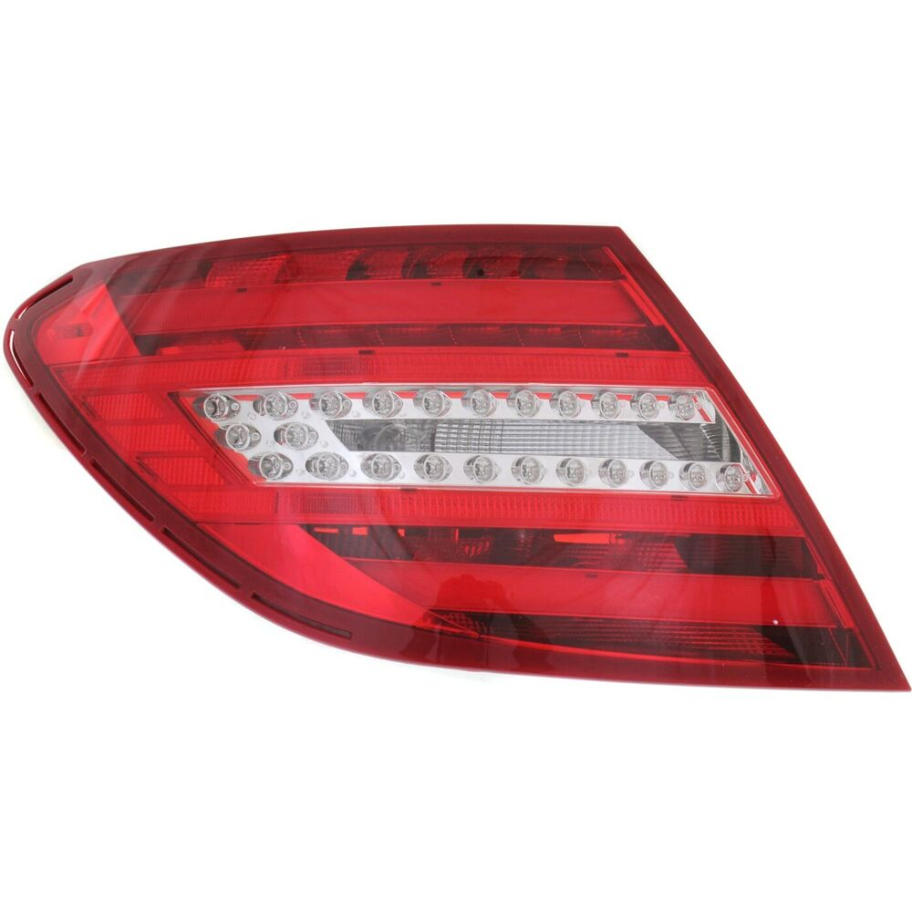 tail light for 2013 mercedes benz c250 lh w bulb s clear