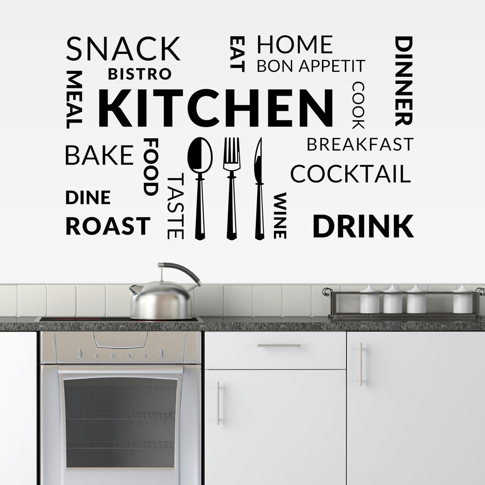 Large Kitchen Wall Decals