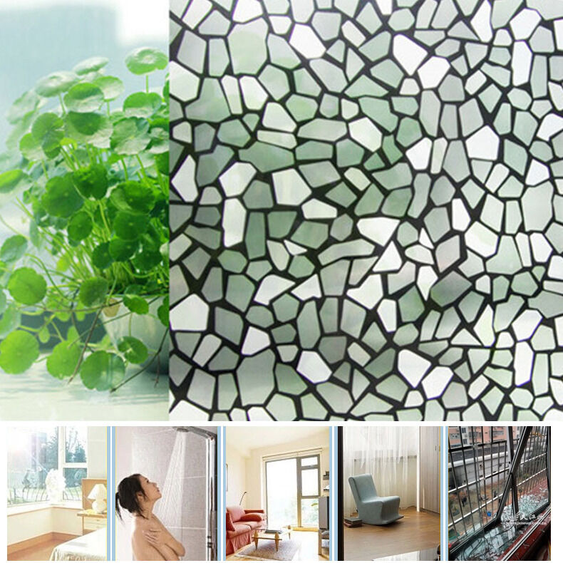 200x45cm bathroom office privacy decorative frosted diy glass window