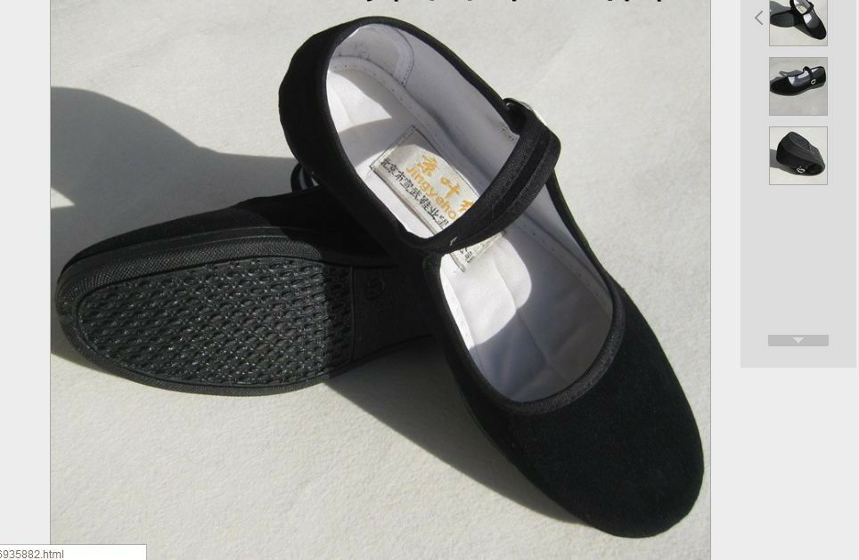 Chinese Shoes Slippers Cotton Shoes Ballet Women Black ...