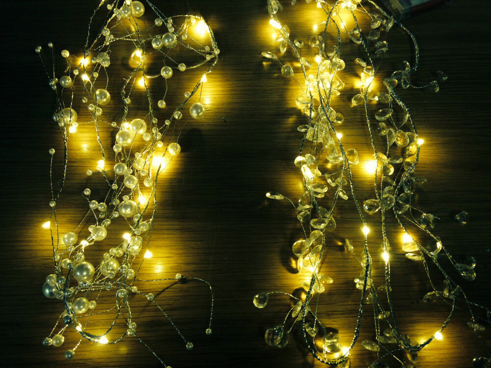 How To String Lights In Garland : 2m WARM Wired LED Garland Christmas party string outdoor garden spray lights eBay