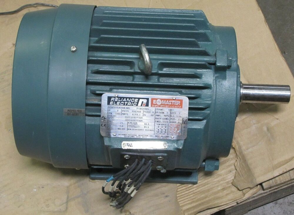 Reliance p18g4905 fe 184t 2hp 2 hp 230 460v 3ph 1165 rpm for 2 rpm electric motor