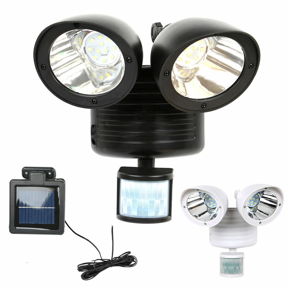 New Solar Powered Motion Sensor Security Light 22 Smd Led