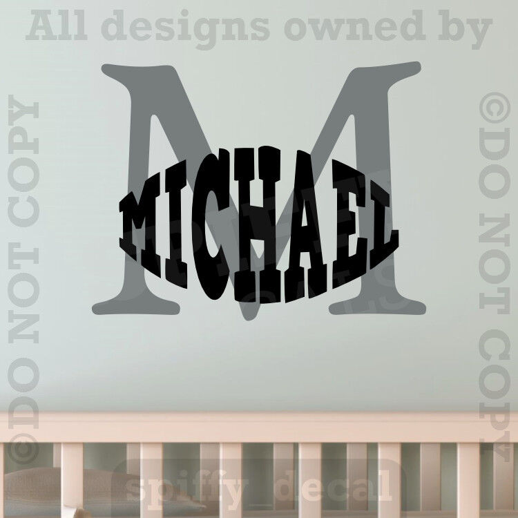 Monogram Personalized Name Vinyl Wall Decal Sticker