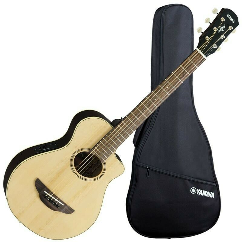 yamaha apxt2 3 4 scale thinline acoustic electric guitar natural 799928931229 ebay. Black Bedroom Furniture Sets. Home Design Ideas