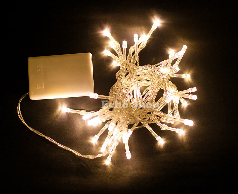String Lights Electric : 5M 40 Bulbs Battery LED String Electric Fairy Lights Christmas Party Wedding UK eBay