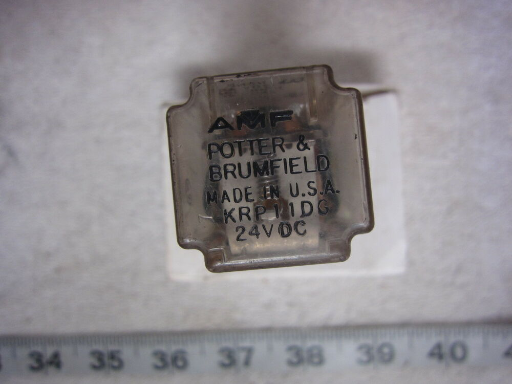 p b potter brumfield krp11dg 8 pin 24vdc coil relay used ebay