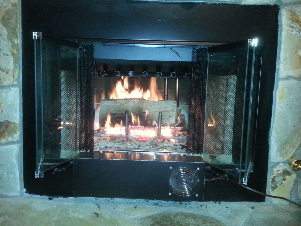 Glass door Large Fireplace Heat Exchanger / Grate Recovery ...