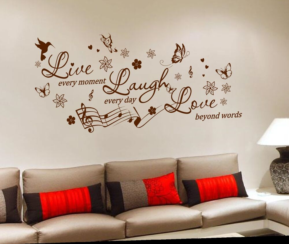 removable vinyl wall sticker decal mural diy room art home decor quote ebay. Black Bedroom Furniture Sets. Home Design Ideas