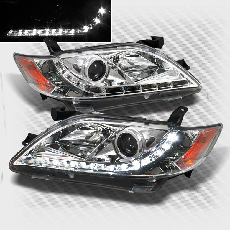 For 2007 2009 Toyota Camry Drl Led Projector Headlights