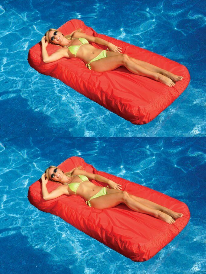 2 swimline solstice 15030r sunsoft swimming pool for Swimming pool loungers