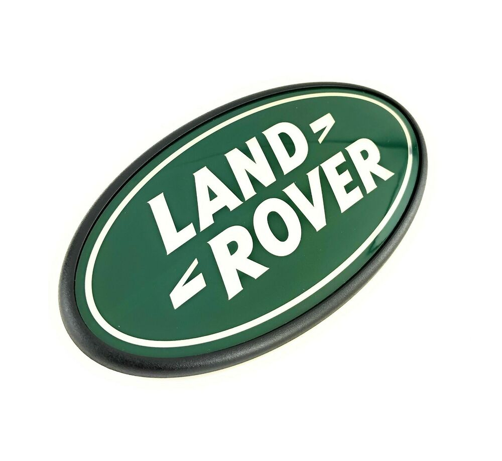 Land Rover Lr2 Rear Tail Gate Badge Emblem Green Silver