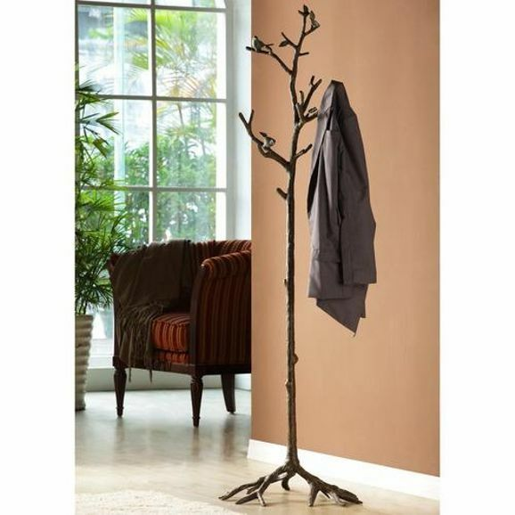 Bird On Branch Lovebird Coat Rack Hat Hall Tree Stand