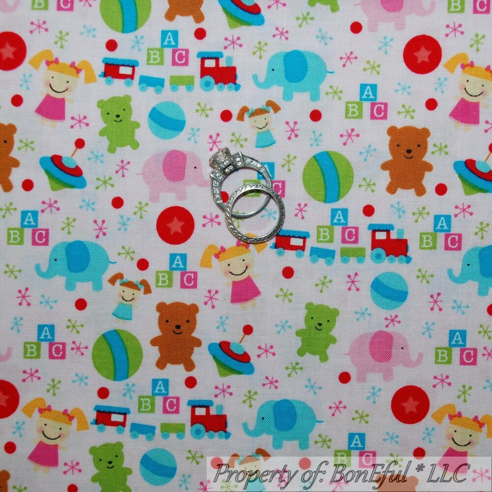 Boneful fabric fq cotton quilt pink baby girl nursery xmas for Nursery fabric sale