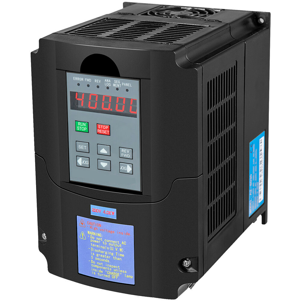4kw 5hp 220vac Single Phase Variable Frequency Drive