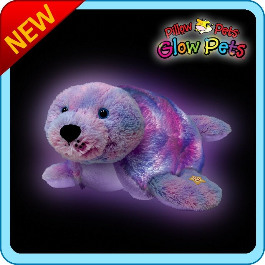 Bright Light Animal Pillow Pets : Pillow Pets Glow Pets - Seal 12