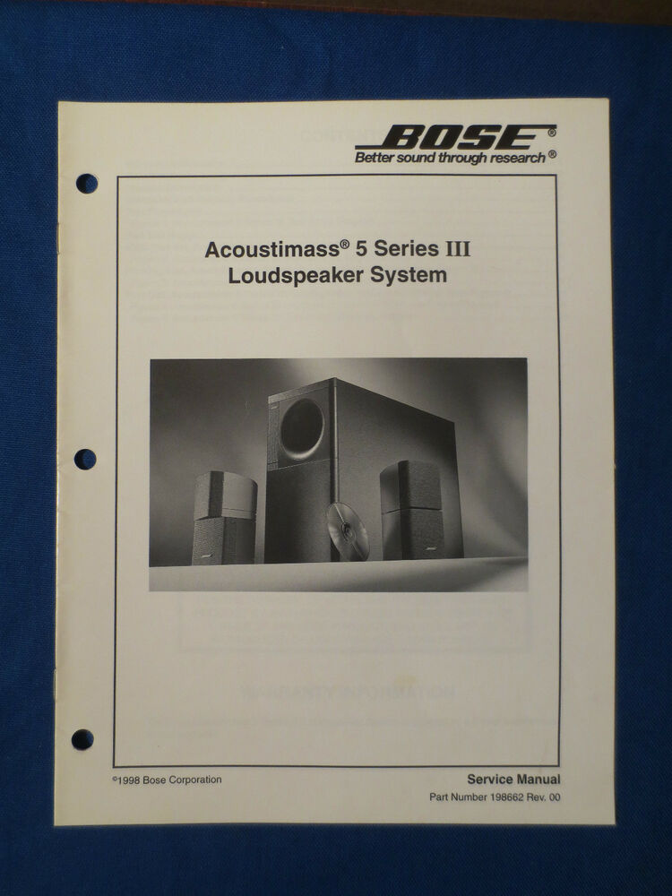 bose acoustimass 5 series iii am 5p iii speakers service manual rh ebay ie Bose Acoustimass 10 Wiring Diagram bose acoustimass 5 series ii service manual
