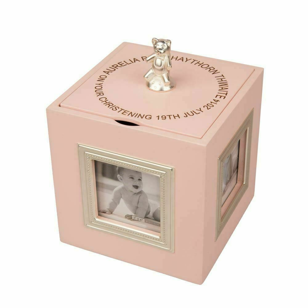 Baby Gift Keepsake Box : Personalised baby girl christening gift musical photo