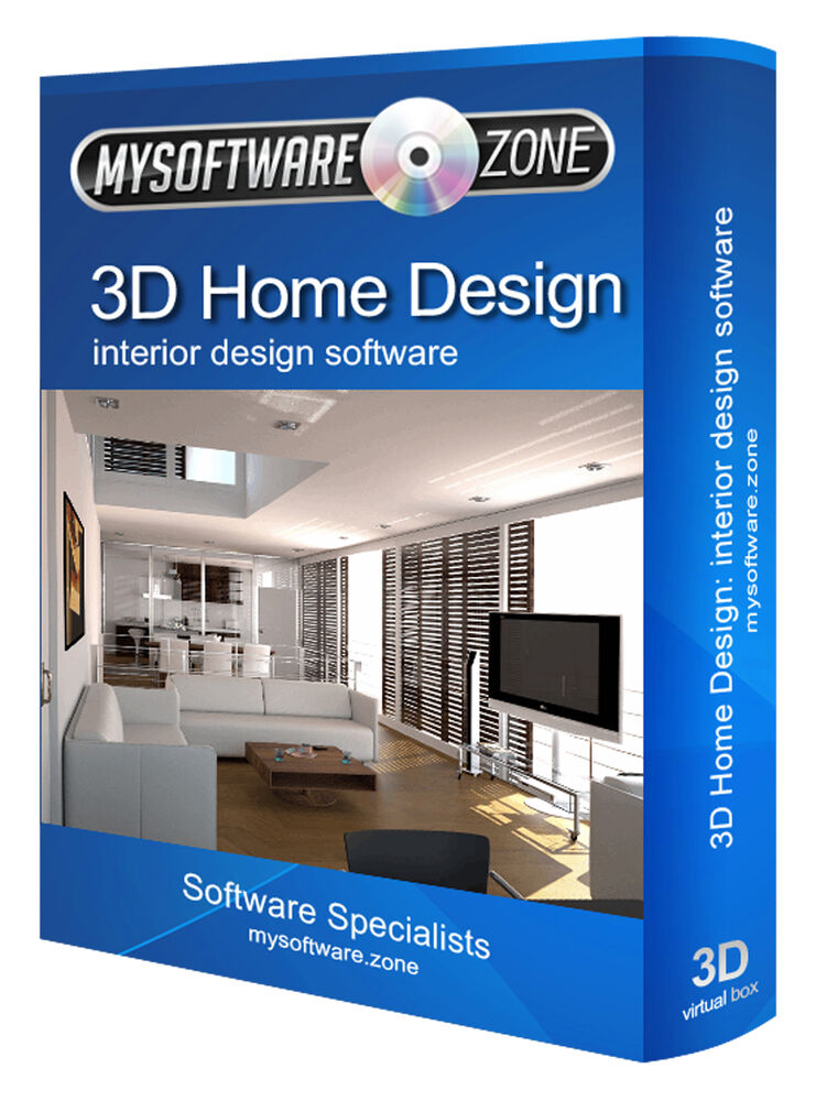 Interior design home designer 2d 3d computer software program cd ebay for Interior decorating software free
