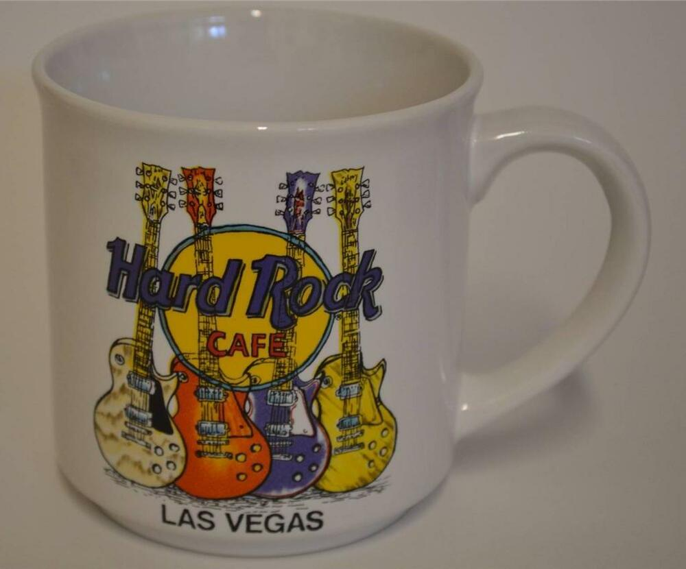 hard rock cafe las vegas coffee cup mug save the planet guitars ebay. Black Bedroom Furniture Sets. Home Design Ideas
