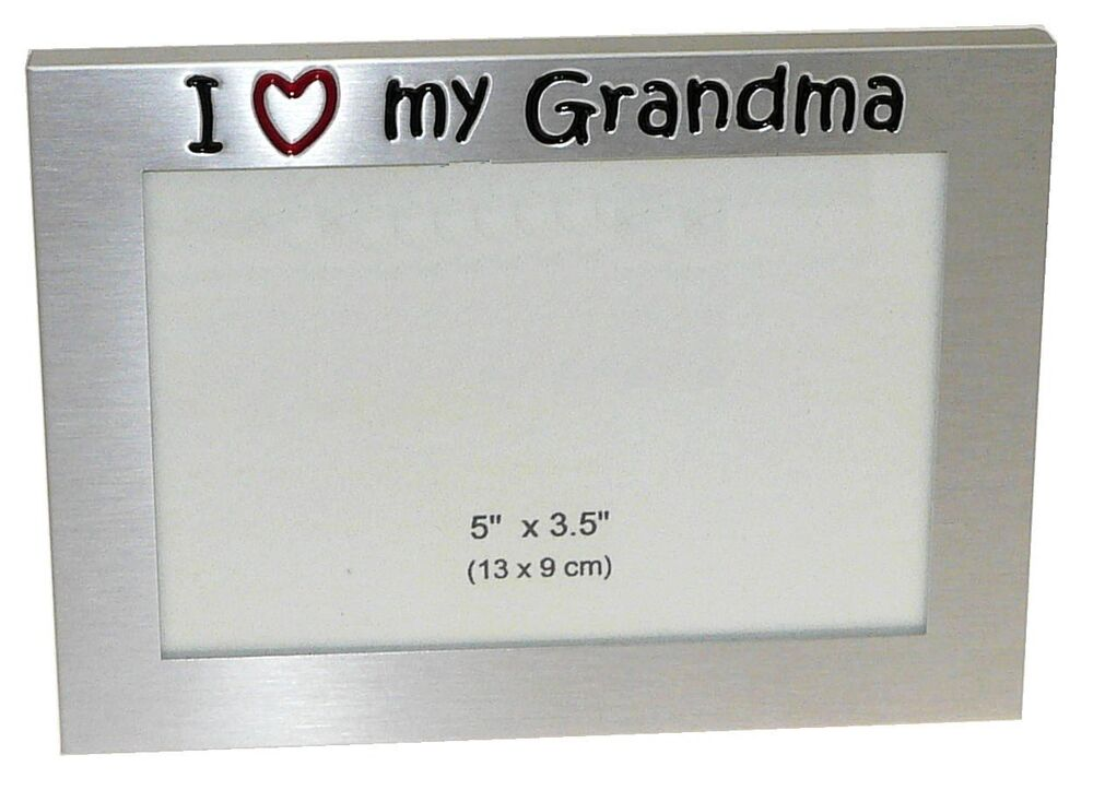 I Love My Grandma Photo Picture Frame Gift 5 Quot X 3 5 Quot Ebay