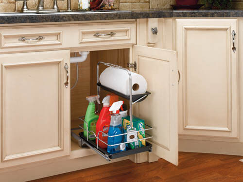 kitchen caddy storage rev a shelf 544 10c 1 sink pull out removable 3306