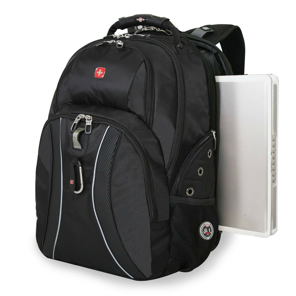 SwissGear ScanSmart Laptop Backpack BLACK NO SALES TAX | eBay
