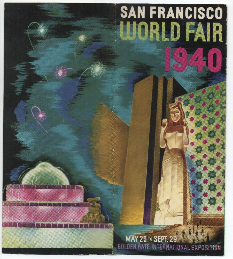 1940 art deco brochure from the ggie world 39 s fair san Deco san francisco