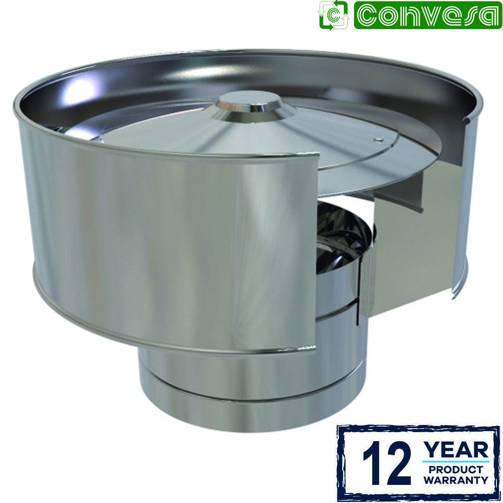 Inch anti wind cowl for stainless steel kc twin wall