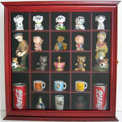 Wall Curio Cabinet Shadow Box With Glass Door Wall Mount