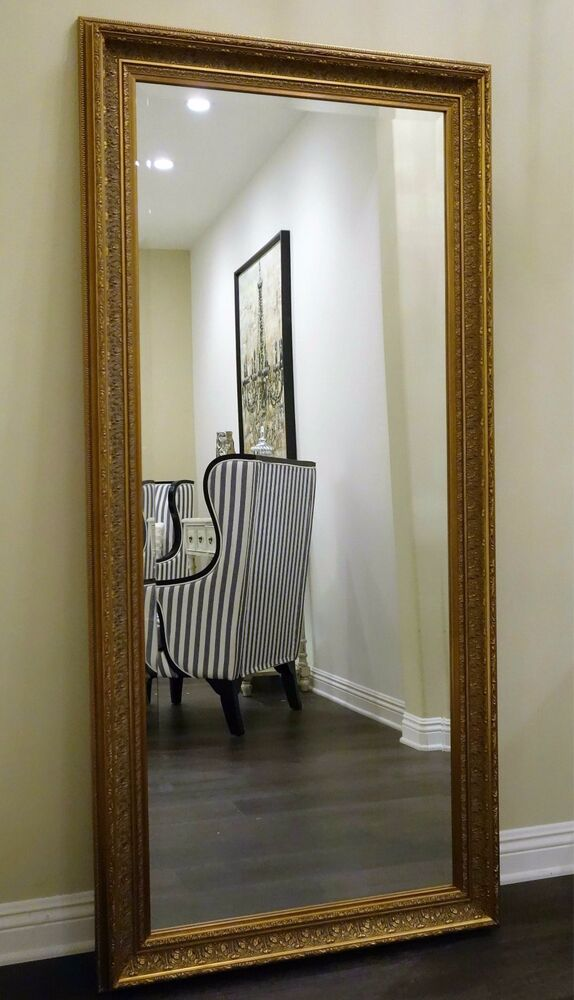West frames elegance ornate embossed antique dark gold for Gold frame floor mirror