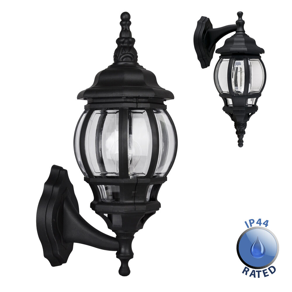 Large Outdoor Patio Lights: Large Black IP44 Outdoor Garden Outside Wall Light Lamp
