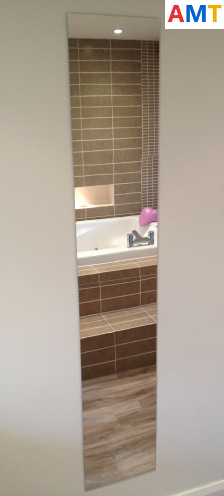 3 X Acrylic Mirror Tiles To Make Full Length A3 420x297mm Size Mirrors