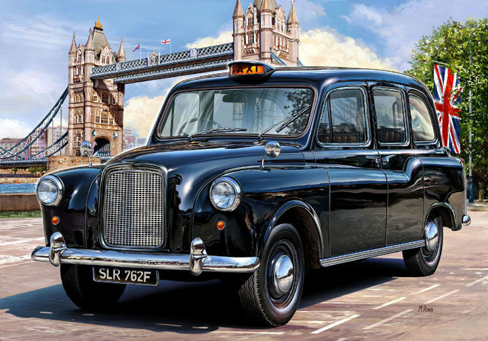 oldtimer 1 24 revell 07093 london taxi fx4 1958 ebay. Black Bedroom Furniture Sets. Home Design Ideas