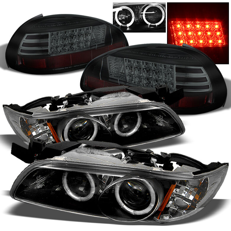 for 97 03 grand prix halo projector headlights black smoked led tail lights ebay. Black Bedroom Furniture Sets. Home Design Ideas