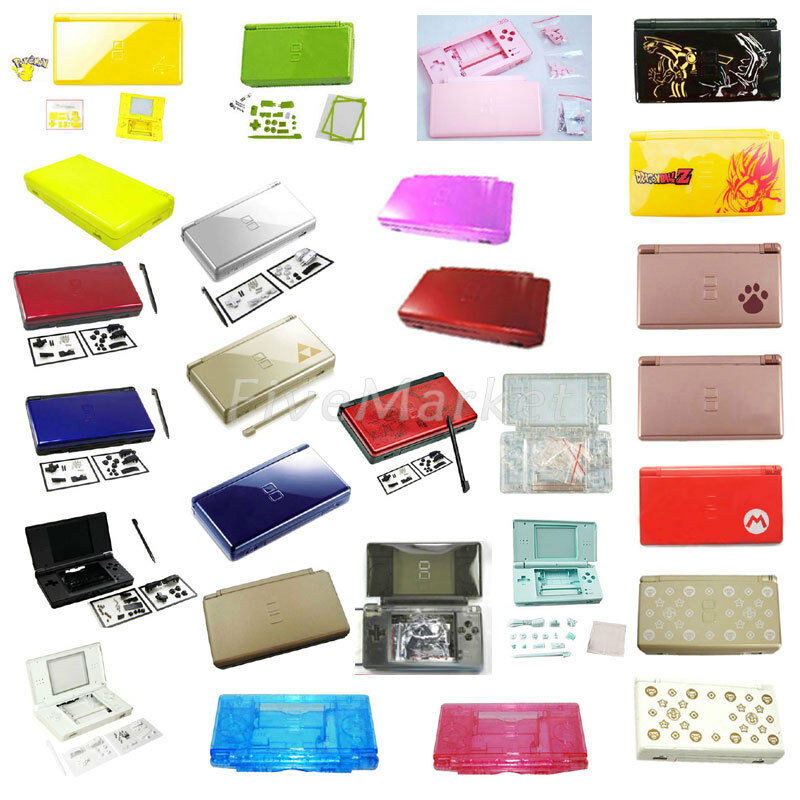 new full housing cover case replacement shell for nintendo ds lite dsl ndsl ebay. Black Bedroom Furniture Sets. Home Design Ideas