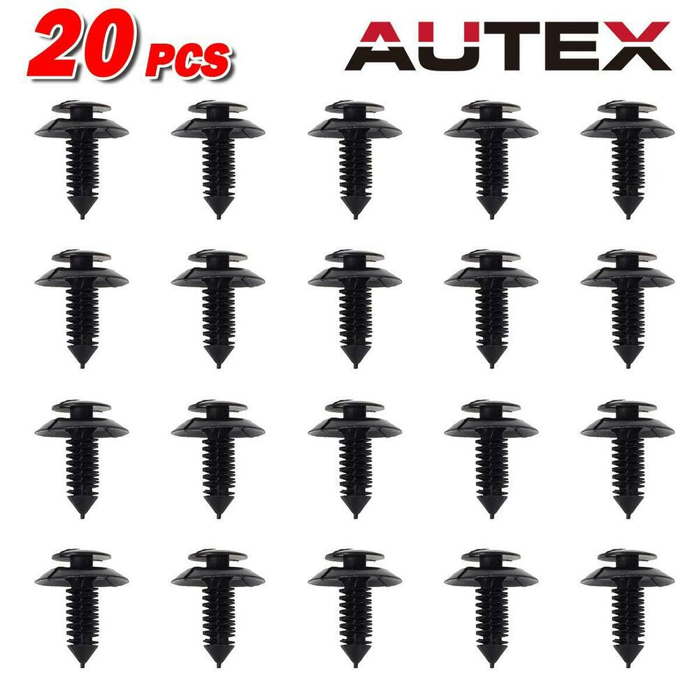 20 Pcs Door Trim Panel Retainer Rivet Clips For Ford
