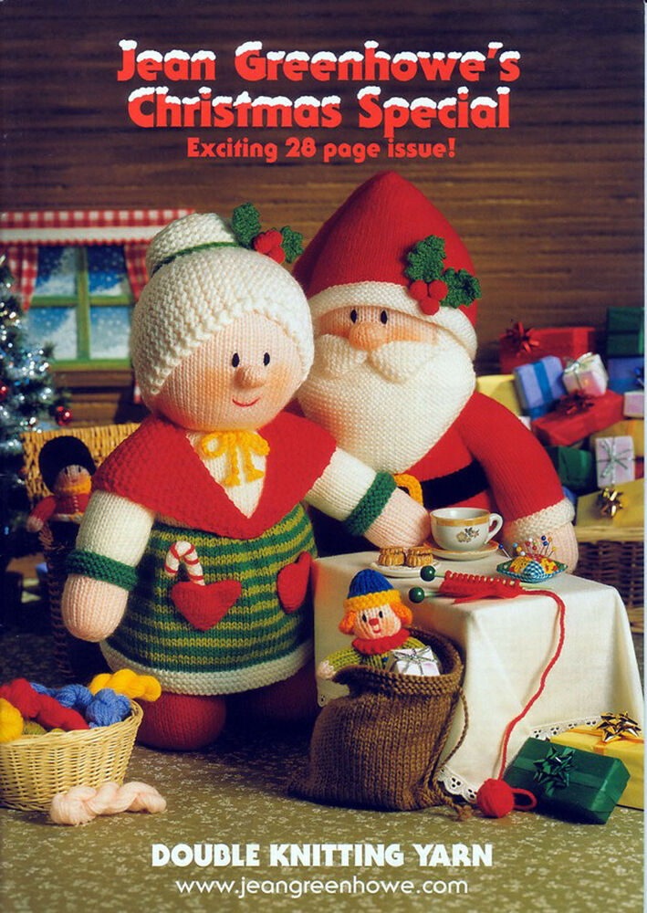 Knitting Pattern Christmas Crib Nativity Scene Booklet : Jean Greenhowe Knitting Pattern Booklet Christmas Special Double Knitting Yar...