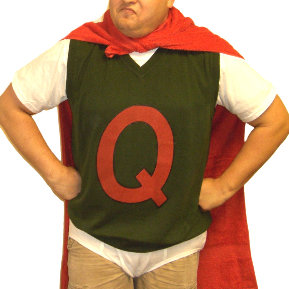 Quailman Sweater Vest Doug Funnie Q Adult Quail Man Costume Super Hero ... Quailman