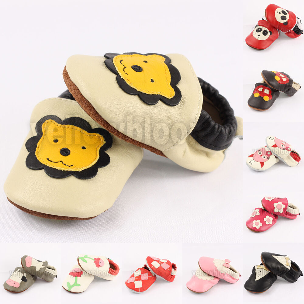 Baby Infant Toddler Soft Sole Slip on Leather Moccasins ...