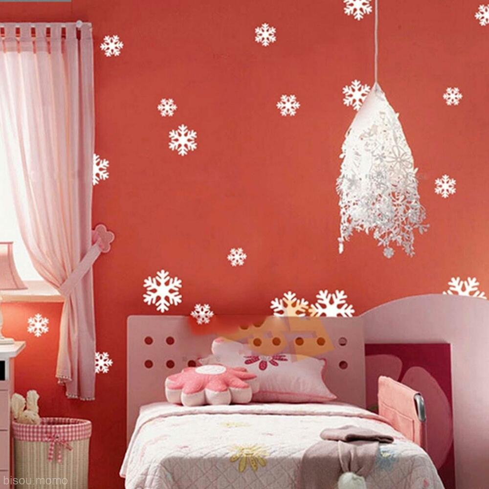 Wall Decoration Gifts : Snowflake decor wall window decal sticker xmas christmas
